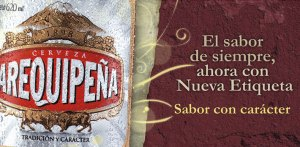 arequipeña beer label