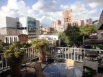 medellin luxury apartment poblado patio view 2