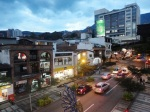 medellin luxury apartment poblado patio view 8