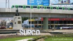 Surco sign & train