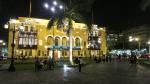 plaza armas mayor lima peru night 2