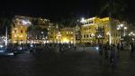plaza armas mayor lima peru night