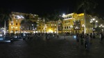plaza armas mayor lima peru night