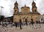 plaza bolivar bogota colombia cathedral