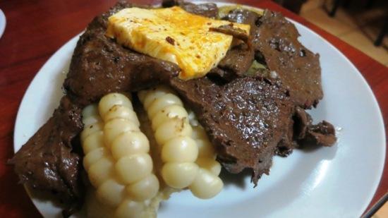 arequipa peru food anticucho la morena cow heart