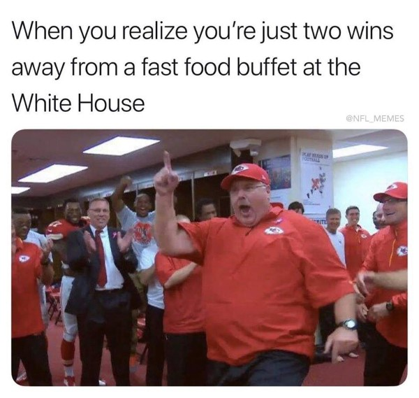 donald trump fast food buffet clemson andy reid chiefs