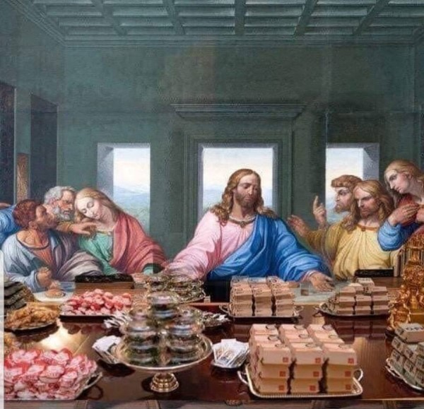 donald trump fast food buffet last supper