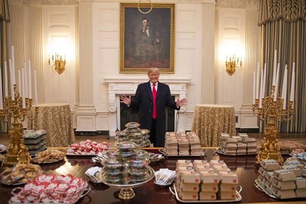 donald trump fast food buffet