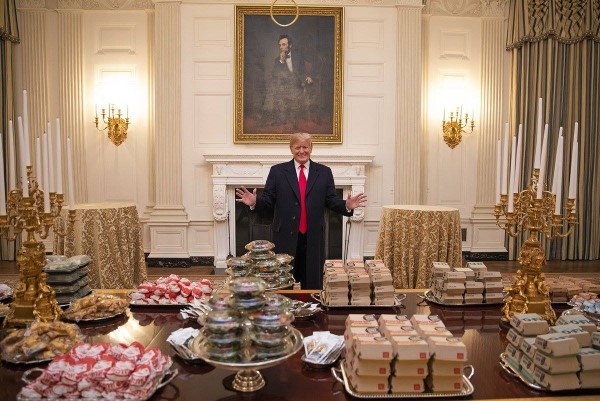 donald trump fast food buffet